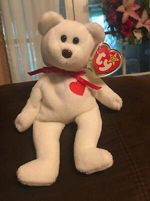 Ty Valentino Beanie Baby With Tag Errors With Tags And Protector