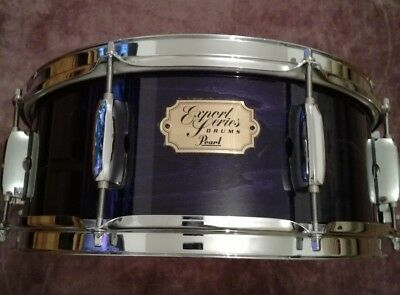 "Pearl Export 14"" X 5"" wood Snare Drum in see through purple lacquer"