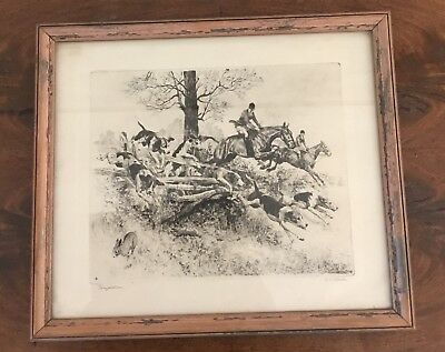 R.h Reinhold Palenske Hunting Lithograph-engraving Deer Buck Guarding His Family Art