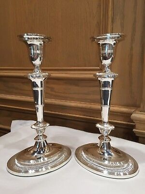 Franklin Mint - The Dumbarton House, Dc - Pair Of Silver Plated Candlesticks