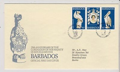 FDC -  Babados - QE11 - 25th Anniversary of Coronation, 1978 - (1449) (X)