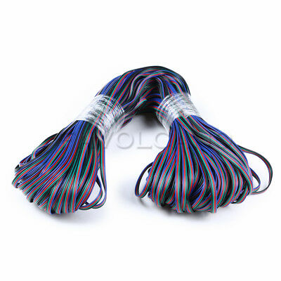 5/10/20m 4 Pin 5050 3528 LED RGB Strip Extension Connector Cable Wire US STOCK