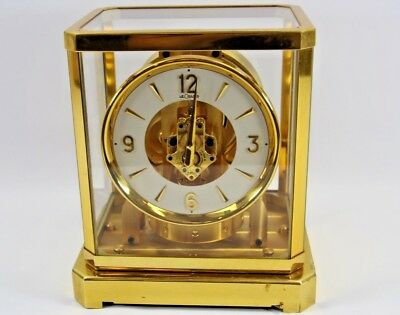 Vintage Jaeger-LeCoultre Atmos 519 Perpetual Mantel Clock Le Coultre Runs Well!
