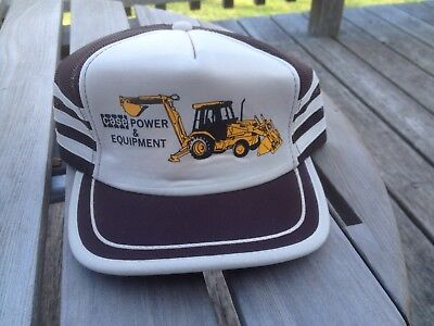 Vintage Snapback Truckers Farmers Hat Case Loader Tractor Heavy Equipment
