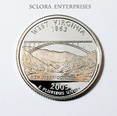 2005 S West Virginia *90% Silver Proof* State Quarter   **free Shipping**