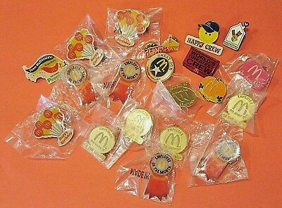 Lot of (20) McDonalds Pin Lot - Employee / Manager's Collection