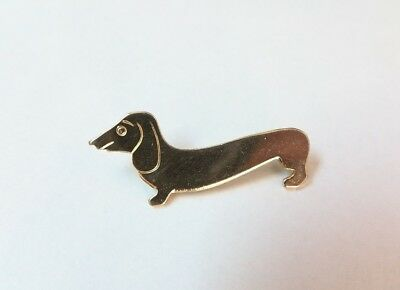 Cute Vintage DACHSHUND Dog Brooch Pin - No Reserve!