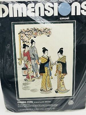 Dimensions Crewel Kit Evening Song 1111 Pat Zitomer Vintage 1978 New in Package