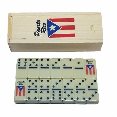 Puerto Rico Flag Double Six Mini Dominos - Dominoes - ( Boricua Rican )