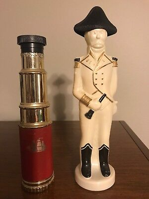 Old Spice Set: Telescope and Admiral Decanters -- FULL -- Vintage!!!