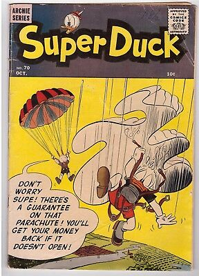 Super Duck #70 Oct 1956 Archie Comic Book Pat The Brat Mopy Duck Rags To Ditches