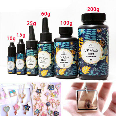 Transparent Sunlight Activated Crystal Epoxy Jewelry DIY UV Resin Solar Cure Kit