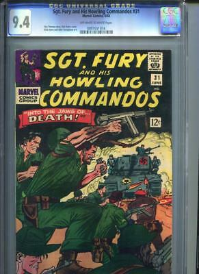 Sgt. Fury #31 CGC 9.4 Off-White Pages Roy Thomas Dick Ayers