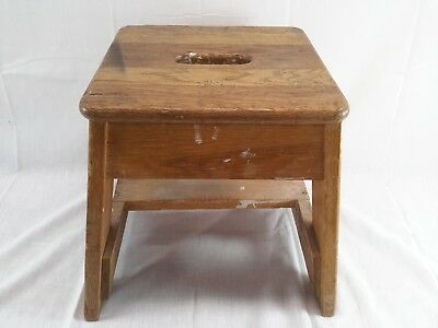Bell System Oak Lineman Telephone Splicing Stool Bench Vintage Seat