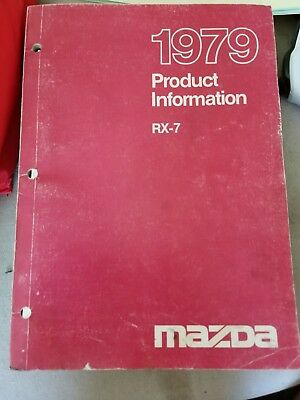 1978 1979 Mazda RX7 Product Information FIRST Salesman's Book Brochure wz2594