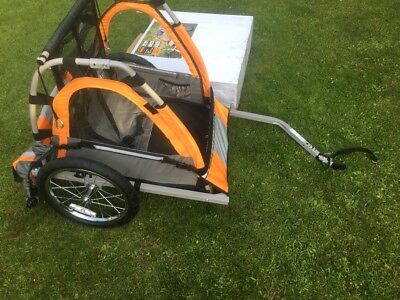 Brand New Childs Double Buggy Bike Trailer Choice Of Two.