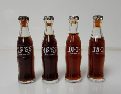 "Vintage Coca Cola Mini Bottles Foreign Thai 3""    lot of 4"