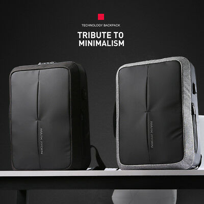 Waterproof Anti Theft Usb Charger Laptop Backpack Men Multifunction Travel Bag