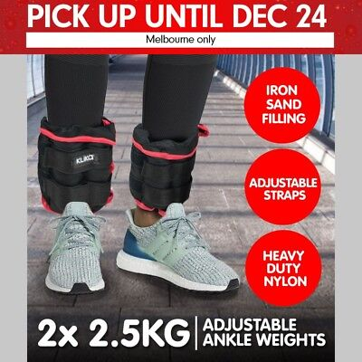 2x 2.5kg ANKLE WEIGHTS HOME GYM EQUIPMENT WRIST FITNESS YOGA TRAINING WEIGHTS