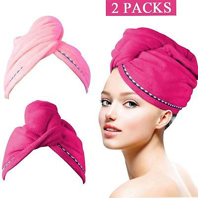4718791315 Turban Twist Dry Shower Microfiber Hair Wrap Towel Drying Bath Spa Head Cap  Hat