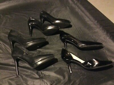 Lot 3 Womens Black High Heel Shoes - Size 9 - Report / Franco Sarto / Nickels