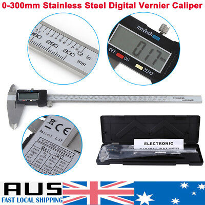 "12"" Inch 300mm Electronic Digital Vernier Caliper Micrometer Large LCD Display"