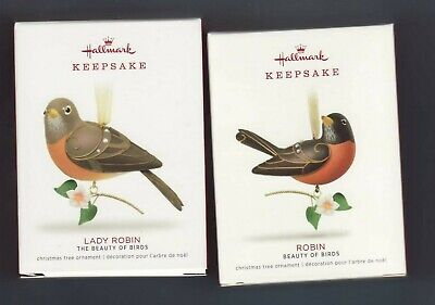 "2018  ""ROBIN & LADY ROBIN""  Hallmark  ""LIMITED""  Keepsake Ornament Set"