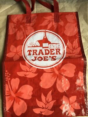 One Trader Joe's Grocery Bag, Red, Preowned- In good condition.