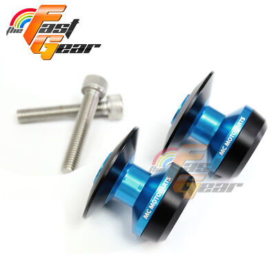Twall Protector Blue Swingarm Spools Sliders Fit Kawasaki Z1000 2014-2016