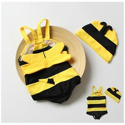 Swimwear Siamese Cute Bees Spa Vacation Swimsuits For Children's Baby Girls Boys