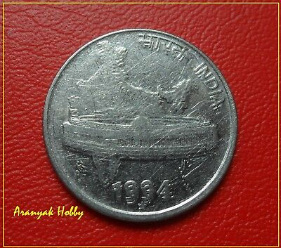 50 paise 1994 steel issue rare variety Indian double die error coin