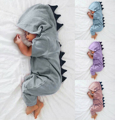 Dinosaur Romper Newborn Infant Baby Boys Girls Jumpsuit Bodysuit Clothes Outfits
