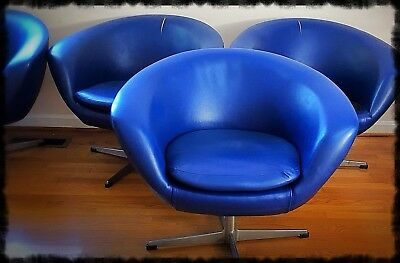 4 Vintage Overman Pod Chairs Need TLC Repair