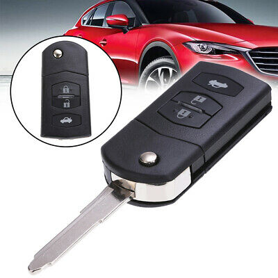 Flip Key Shell Fit For MAZDA 2 3 5 6 RX8 MX5 Remote Case Replace 3 Button Fob