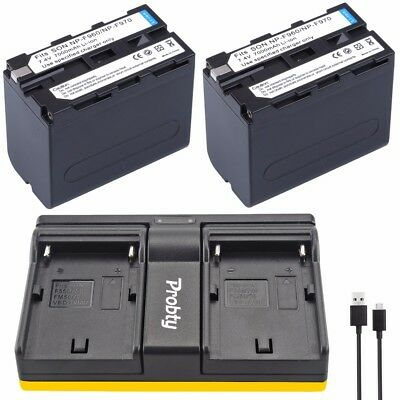 2* NP-F960 NP-F970 battery / Dual charger for Sony NP-F550 F770 F750 F960 F970