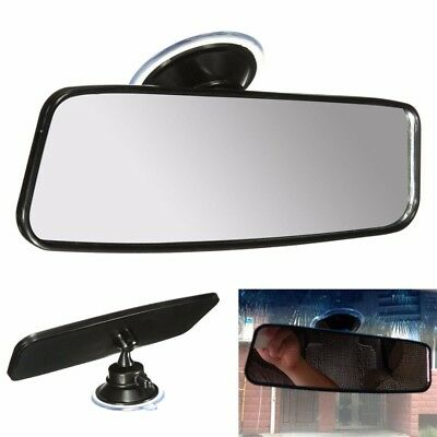 1x Universal Auto Truck Wide Flat Interior Rear View Rearview Mirror Suction Cup