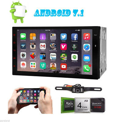 """7"""" Android 7.1 4G WiFi In-dash 2din Car Radio GPS Stereo Bluetooth No DVD Player"""