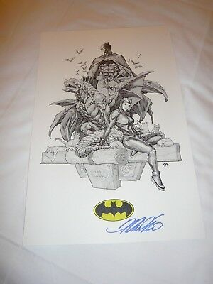 2018 Sdcc Batman & Catwoman Art Print By Frank Cho Signed 11X17