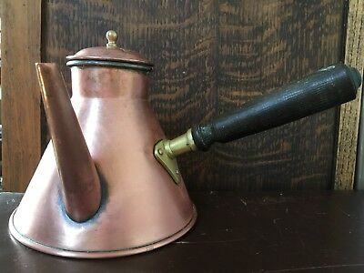 French vintage Villedieu copper coffee/chocolate Pot