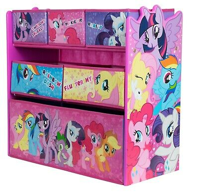 My Little Pony Toy Storage Unit Box Organiser Wood Kids Bedroom Furniture