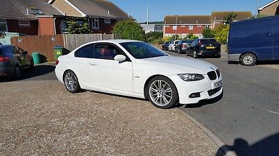 bmw 320i m sport coupe white no reserve 93k just out of bmw main dealer faultles