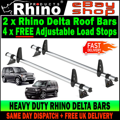 Land Rover Discovery 3 & 4 Roof Rack Bars Ladder Rails + FREE LOAD STOPS Rhino