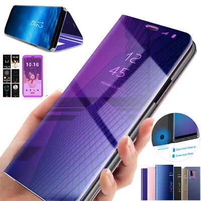 360° Clear View Mirror Case for iPhone 11 Pro Max SE 6s Flip Stand Wallet Cover