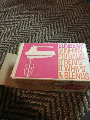 Vintage Sunbeam Mini Mix Portable