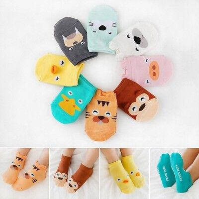 Fashion Infant Boys Girls Baby Ankle Socks Cartoon Animal Anti Slip Cotton Socks