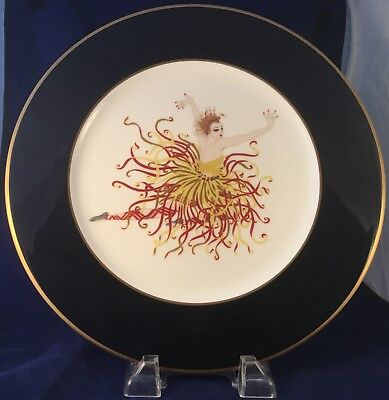 """Mikasa ERTE' """"APPLAUSE"""" PLATE 1985 - Collector's plate. A3081. BONE CHINA. JAPAN"""