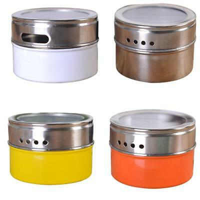 Spice Tins Stainless Steel Seasoning Box Storage Container Jars with Clear Lid