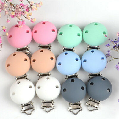 Funny Infant Baby Wooden Pacifier Suspender Clips Dummy Nipples Holder