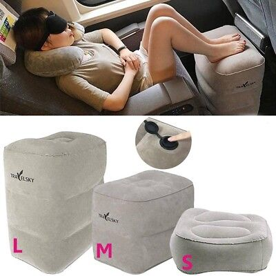 Inflatable Travel Footrest Pillow Foot Leg Travel Pillow for Trains Kids Bed