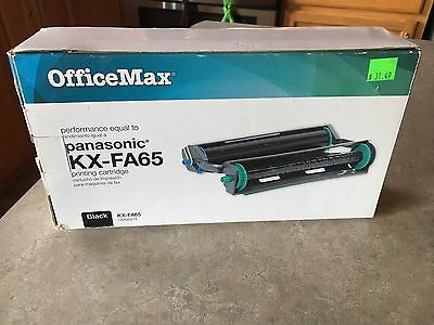 Office Max OM98918 Fax Machine Printing Cartridge for Panasonic KX-FA65 New
